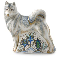 Royal Crown Derby Husky Paperweight