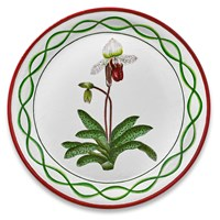 Handpainted Tole Tray Lady Slipper Orchid