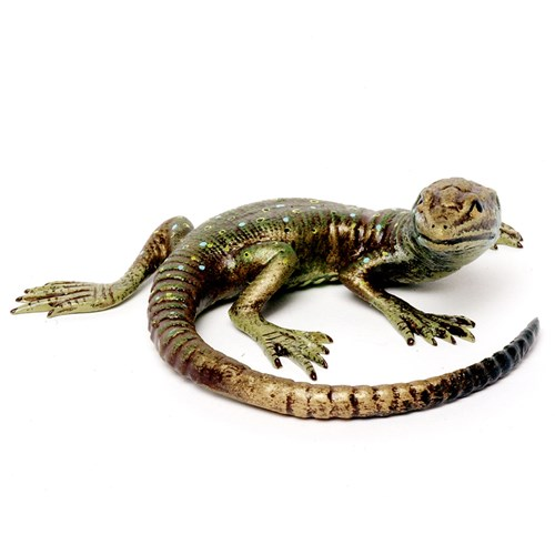 Austrian Bronze Lizard with Long Tail, Small Figurine