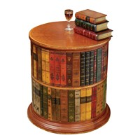 Round Leather Books Bookstand