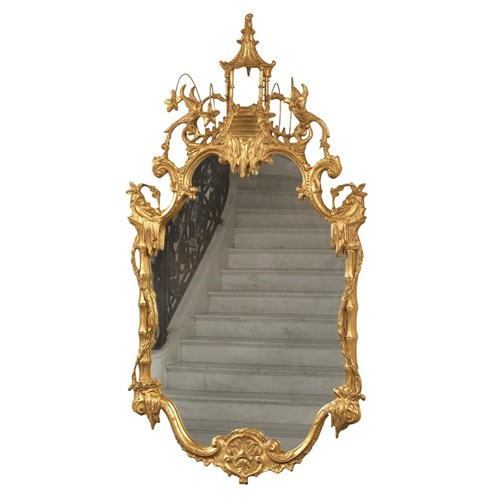 Chippendale Double Phoenix Mirror