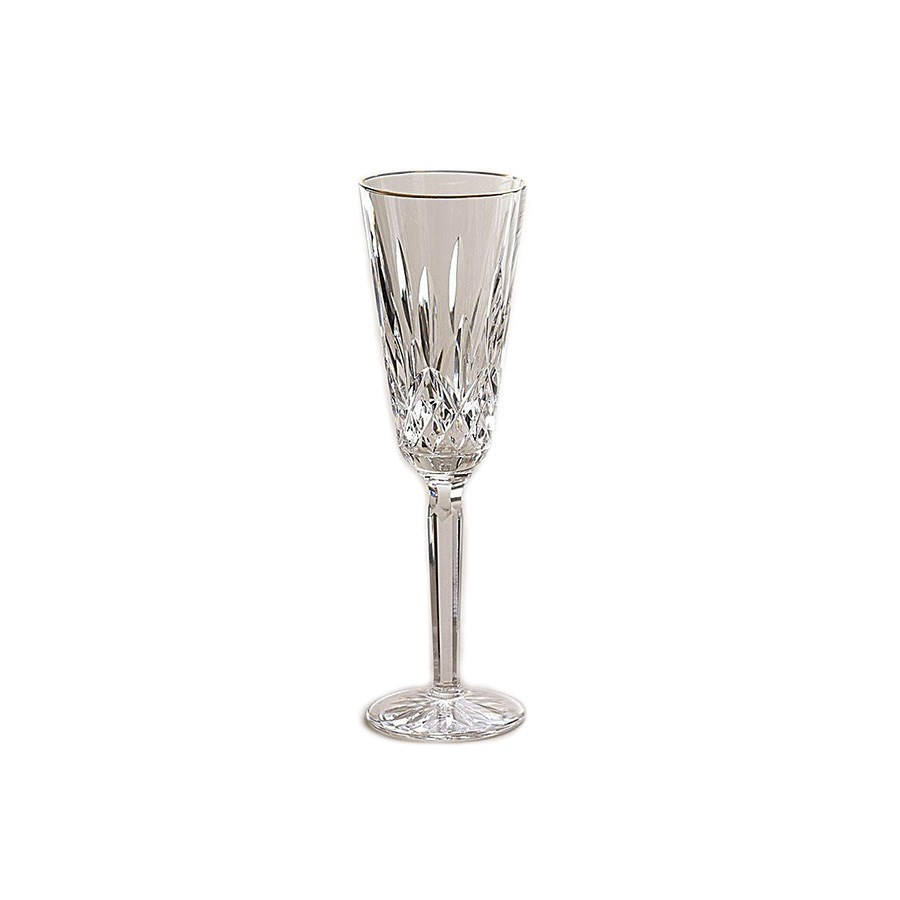 waterford lismore tall gold rim champagne flute waterford crystal