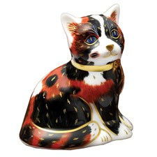 Royal Crown Derby Calico Kitten Paperweight