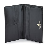 Launer Calfskin Wallet, Black