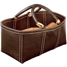 Leather Log Bag, Brown