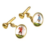 Golfer Crystal Cufflinks