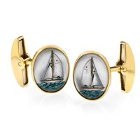 Yacht Crystal Cufflinks
