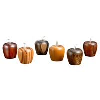 Wood Apple Place Card Holders, Set of 6