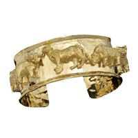 18k YG Cuff Big Five Full Body