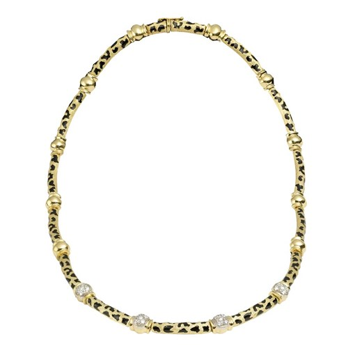 Cheetah Necklace 18k Gold & Diamonds