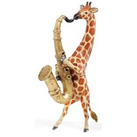 Austrian Bronze Giraffe Playing Saxophone Figurine