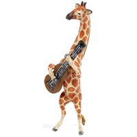 Austrian Bronze Giraffe Playing Guitar Figurine