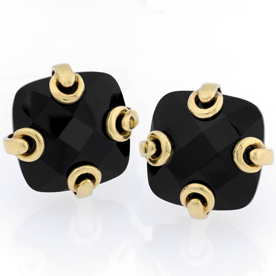 product onyx jewelry gold yellow brilliant earrings in round victorian fine diamonds estate cut home