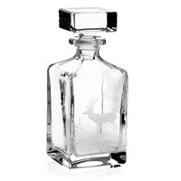 Whiskey Decanter with Stag