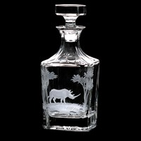 Whiskey Decanter with Rhino