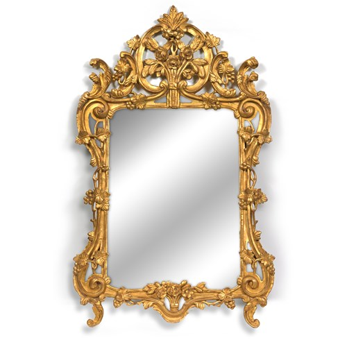 Belle Jardin Gold Finished Mirror