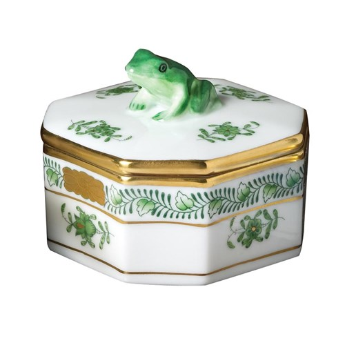 Chinese Bouquet Green Frog Box