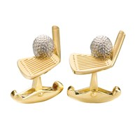 18K Gold Golf Cufflinks