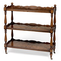 Myrtle Wood Shelves with Brass Feet