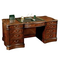 Mahogany Serpentine Writing Desk