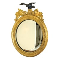 Rondel Mirror with Eagle