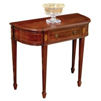 D-Shaped Mahogany Wall Console