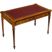 English Henry Writing Table Leather Top