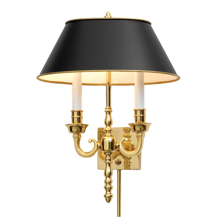 Polished Brass Wall Sconce Sconces & Picture Lights Lamps Home Decor ScullyandScully.com