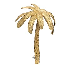 Royal Palm Tree Pin 18k Yellow Gold with Diamond