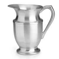 Silver Pewter Beverage Pitcher