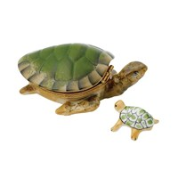 Turtle Limoges Box with Baby Inside