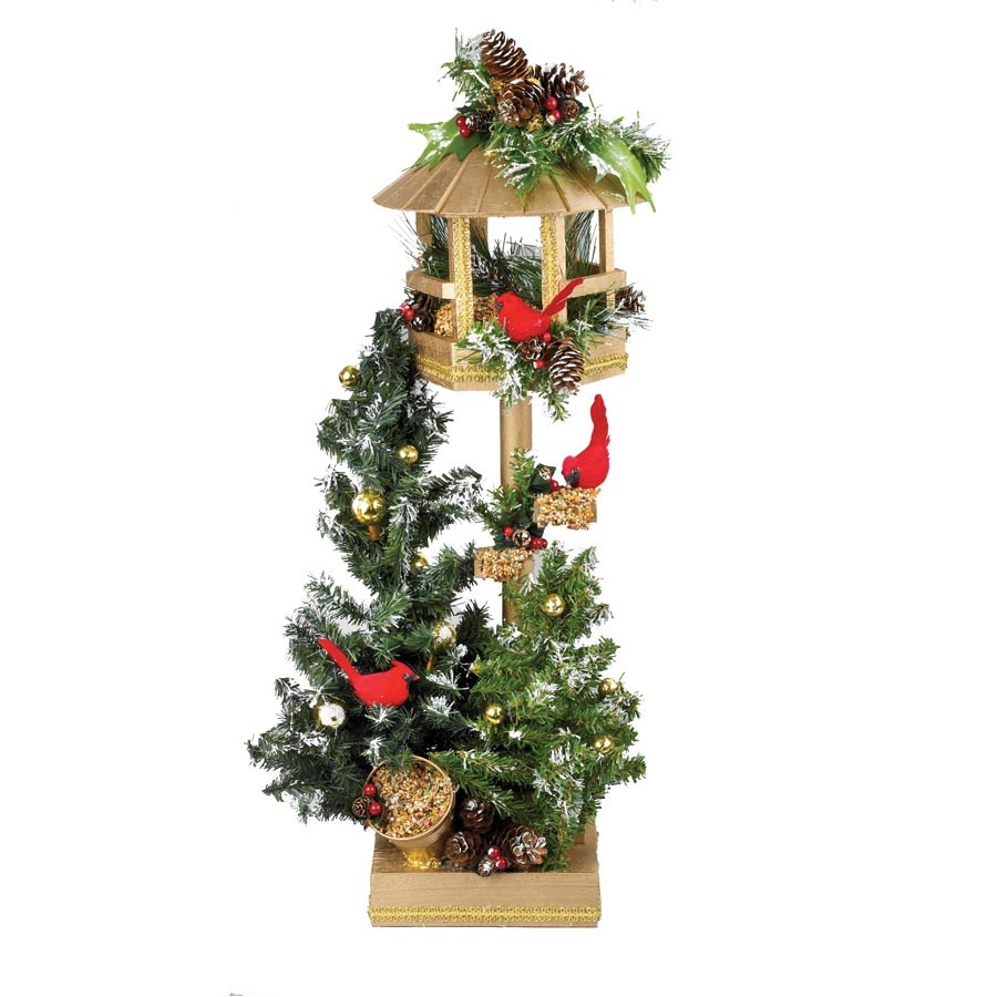 Http Www Scullyandscully Com Home Decor Holiday Decor Christmas Decorations Bird House With Cardinals Pine Axd