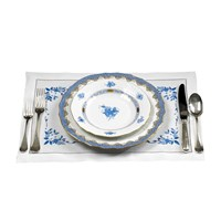 Blue Roses & Daisies Placemats Set/4