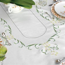 "Green Orchid Tablecloth 59.1"" X 118.2"""