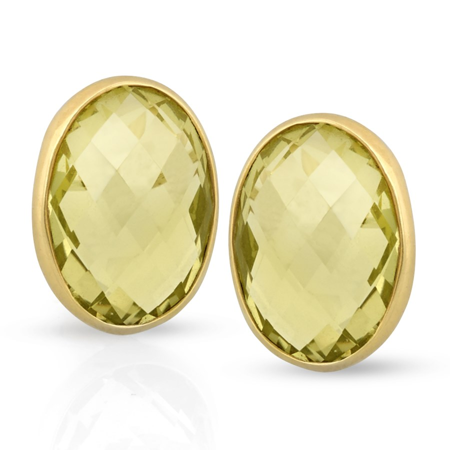 rosanne rp cut allproducts lemon large small emerald faceted citrine earrings pugliese