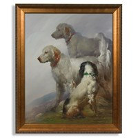 Setters in the Mist Giclee