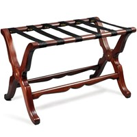 Extra-Long Mahogany Luggage Rack