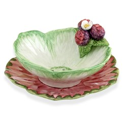 Ceramic Berry Bowl and Plate