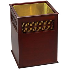 Mahogany Wastebasket with 1-line Fret Straight Sides