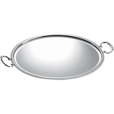 Christofle Albi Silverplated Oval Tray with Handles