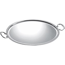 Christofle Albi Silver Plated Oval Tray With Handles