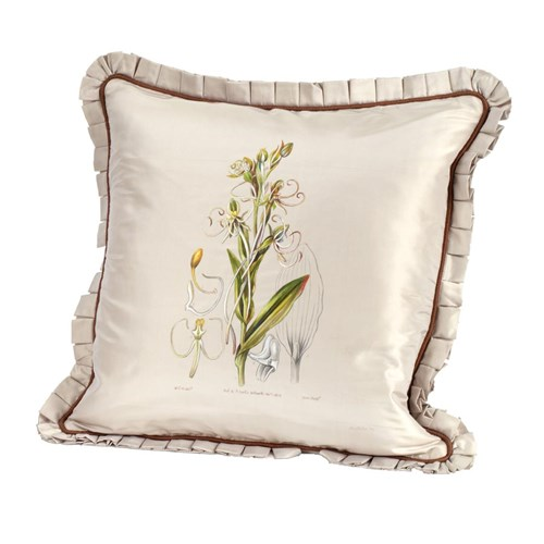 Handpainted Silk Pillow Walworth