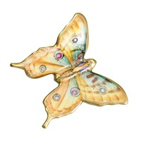 Porcelain Butterfly Yellow with Spots