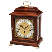 Mahogany Basket Mantel Clock
