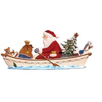 Pewter Rowing Santa