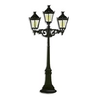 Pewter Three-Lamp Gaslight