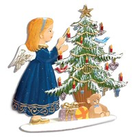 Pewter Angel Decorating Tree