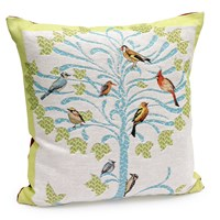 Birds in Tree Tapestry Pillow