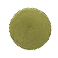 Looped Edge Round Placemat Moss