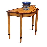 Satinwood Serpentine Console Table